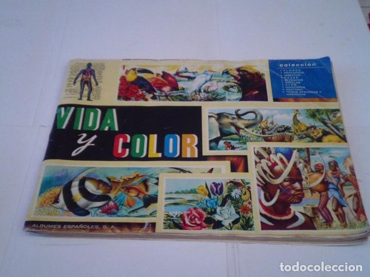 VIDA Y COLOR - ALBUM DE CROMOS - ALBUMES ESPAÑOLES, SA - COMPLETO - BUEN ESTADO - GORBAUD (Coleccionismo - Cromos y Álbumes - Álbumes Completos)