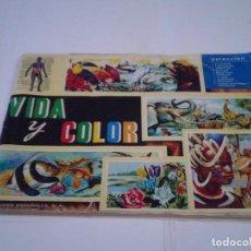 Coleccionismo Álbum: VIDA Y COLOR - ALBUM DE CROMOS - ALBUMES ESPAÑOLES, SA - COMPLETO - BUEN ESTADO - GORBAUD. Lote 203384722