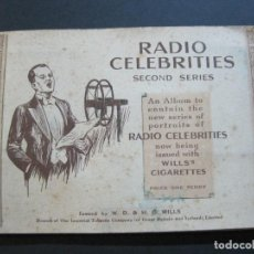 Coleccionismo Álbum: RADIO CELEBRITIES-2ND SERIES-WILL'S CIGARETTES-ALBUM COMPLETO-PUBLICIDAD TABACO-VER FOTOS(V-20.158). Lote 203821490