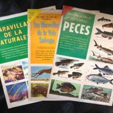 Coleccionismo Álbum: LIBROS DE ORO DE ESTAMPAS - PECES, MARAVILLAS VIDA SALVAJE Y NATURALEZA. Lote 203926407
