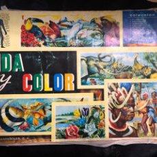Coleccionismo Álbum: ALBUM VIDA Y COLOR - COMPLETO. Lote 203931286