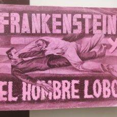 Coleccionismo Álbum: ALBUM CROMOS MONSTRUOS FRANKENSTEIN Y EL HOMBRE LOBO FHER 1946 - FRANKENSTEIN & WEREWOLF MONSTERS. Lote 204208787