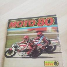 Coleccionismo Álbum: ALBUM MOTO 80.. EDICIONES ESTE.. COMPLETO... Lote 204405540