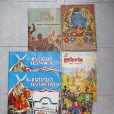 Coleccionismo Álbum: LOTE ALBUM DE CROMOS IMCOMPLETOS / 7 ALBUMES DE CROMOS. Lote 204816975