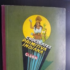 Coleccionismo Álbum: ÁLBUM CROMOS MUY BIEN 100% COMPLETO CHOCOLATES LA PRIMITIVA INDIANA AÑOS 40-50. Lote 204974160