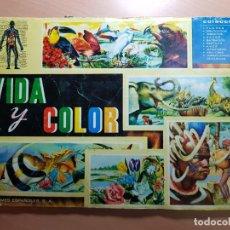 Coleccionismo Álbum: ANTIGUO ALBUM DE CROMOS COMPLETO VIDA Y COLOR ALBUMES ESPAÑOLES S.A. 1965. Lote 204991737