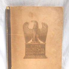 Coleccionismo Álbum: HISTORIA DE ALEMANIA BILDER DEUTSCHER GESCHICHTE BERLIN 1936 , ALBUM CROMOS COMPLETO 200 CROMOS. Lote 205021182