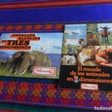 Coleccionismo Álbum: ANIMALES SALVAJES EN TRES DIMENSIONES Y EL MUNDO DE LOS ANIMALES SALVAJES EN 3 COMPLETO FOTO DE TODO. Lote 205243096