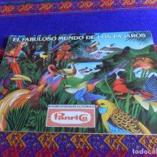 Coleccionismo Álbum: EL FABULOSO MUNDO DE LOS PÁJAROS COMPLETO 60 CROMOS. PANRICO 1976. FOTOS DE TODO.. Lote 205243815