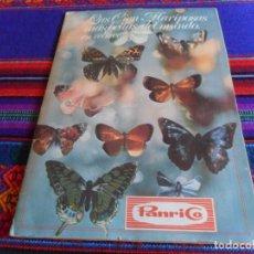 Coleccionismo Álbum: LAS CIEN MARIPOSAS MÁS BELLAS DEL MUNDO EN RELIEVE COMPLETO. PANRICO 1974 FOTOS DE TODO.. Lote 205244055