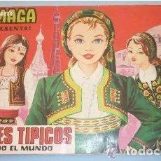 Coleccionismo Álbum: ALBUM DE CROMOS MAGA TRAJES TIPICOS MUNDO - 216 CROMOS + 37 METALIZADOS COMPLETO. BUEN ESTADO. Lote 205315680