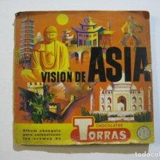 Coleccionismo Álbum: CHOCOLATES TORRAS-VISION DE ASIA-ALBUM DE CROMOS COMPLETO-VER FOTOS-(V-20.207). Lote 205324691