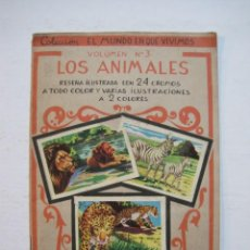 Coleccionismo Álbum: COLECCION EL MUNDO EN QUE VIVIMOS-LOS ANIMALES-ED·ROMA-ALBUM DE CROMOS COMPLETO-VER FOTOS-(V-20.208). Lote 205324908
