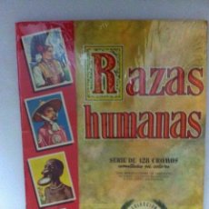Coleccionismo Álbum: RAZAS HUMANAS - 128 CROMOS - COMPLETO- MUY BIEN CONSERVADO. Lote 205653262