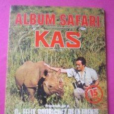 Coleccionismo Álbum: ALBUM SAFARI , FELIX RODRIGUEZ DE LA FUENTE, FHER..COMPLETO. Lote 206166101