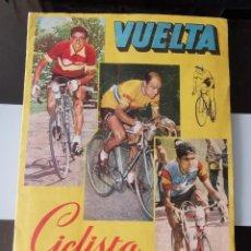 Coleccionismo Álbum: ÁLBM CROMOS VUELTA CICLISTA A ESPAÑA 1959 ED. FHER COMPLETO. Lote 206590690