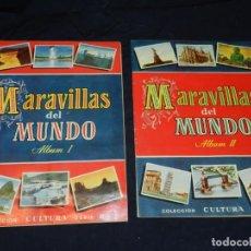 Coleccionismo Álbum: ALBUM MARAVILLAS DEL MUNDO ALBUM I Y ALBUM II - COMPETOS Y EN BUEN ESTADO DE CONSERVACION. Lote 207629528