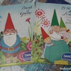 Coleccionismo Álbum: DOS ALBUMES DANONE,DAVID EL GNOMO Y EL LIBRO DE LISA. Lote 207862257