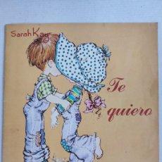 Coleccionismo Álbum: ALBUM CROMOS PANINI - SARAH KAY - TE QUIERO - COMPLETO. Lote 207864672