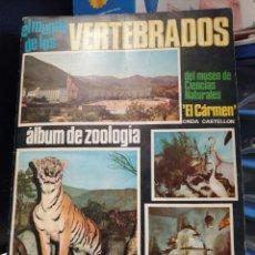 Coleccionismo Álbum: ALBUM DE CROMOS COMPLETO EL MUNDO DE LOS VERTEBRADOS. Lote 208201686