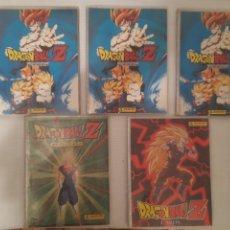 Coleccionismo Álbum: 5 ALBUM COMPLETO DRAGON BALL PANINI TRADING CARDS (AZUL 1, PLATA 2, DORADA 3, ROJA 4, VERDE 5). Lote 208982042