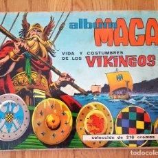 Coleccionismo Álbum: ALBUM VIDA Y COSTUMBRES DE LOS VIKINGOS MAGA. COMPLETO CON 216 CROMOS. Lote 231961430