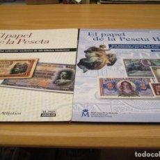 Coleccionismo Álbum: EL PAPEL DE LA PESETA I Y II. Lote 210312286