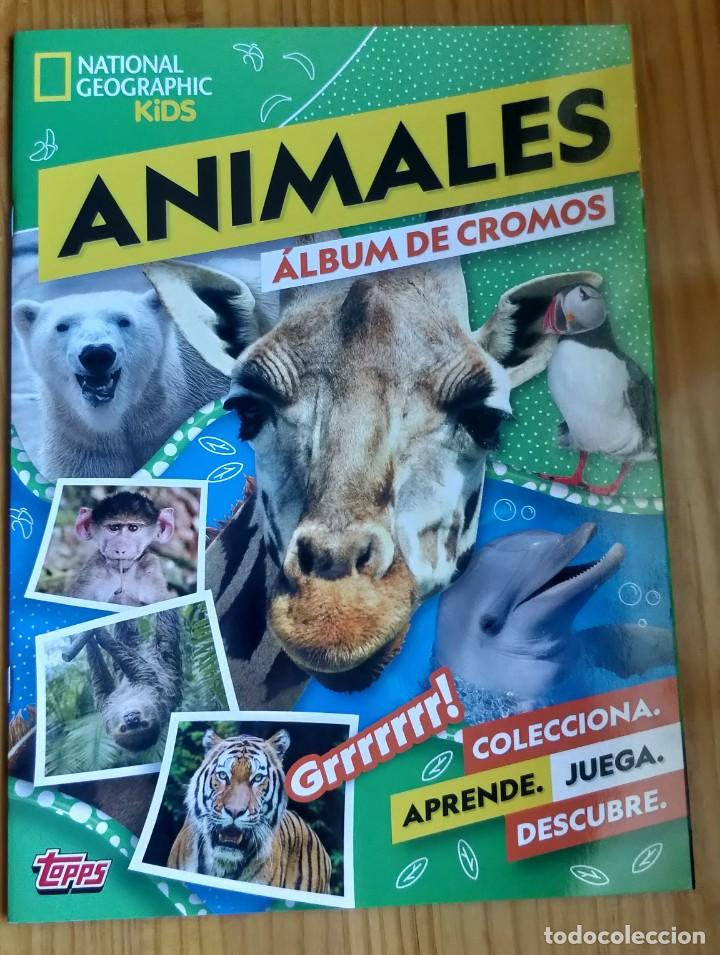 ÁLBUM COMPLETO ANIMALES NATIONAL GEOGRAPHIC KIDS DE TOPPS (Coleccionismo - Cromos y Álbumes - Álbumes Completos)