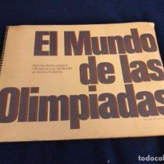 Coleccionismo Álbum: EL MUNDO DE LAS OLIMPIADAS-JUEGOS OLIMPICOS-ALBUM DE CROMOS COMPLETO-VER FOTOS-. Lote 210690329