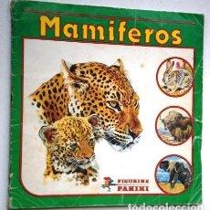 Coleccionismo Álbum: ALBUM COMPLETO DE 240 CROMOS MAMÍFEROS / EDICIONES FIGURINE PANINI EN MODENA ITALIA S/F. Lote 213437692