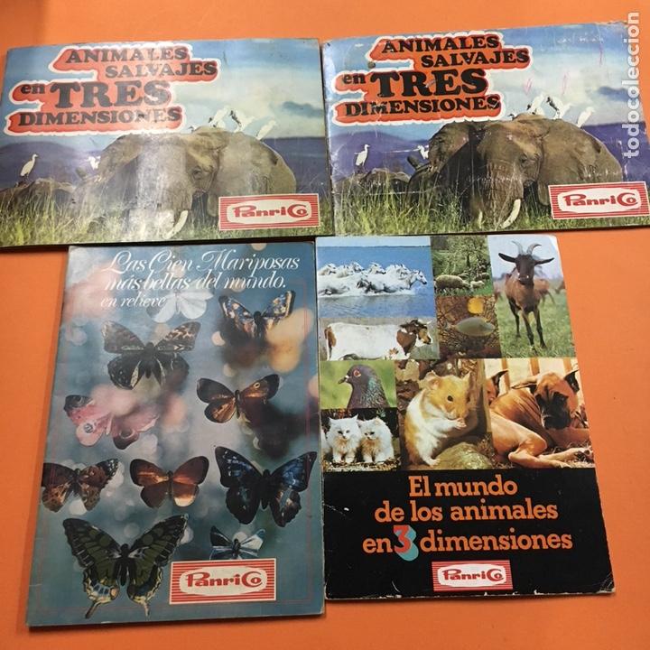 ALBUM LOTE PANRICO EL MUNDO DE LOS ANIMALES -MARIPOSAS-ANIMALES SALVAJES (Coleccionismo - Cromos y Álbumes - Álbumes Completos)