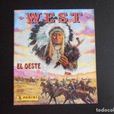 Coleccionismo Álbum: ALBUM DE CROMOS, WEST, EL OESTE, 1992, COMPLETO, PANINI. Lote 213814557