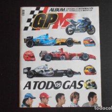Coleccionismo Álbum: ALBUM DE CROMOS, A TODO GAS 05, , COMPLETO, FORMULA 1 Y MOTO. Lote 284688403