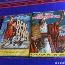 Coleccionismo Álbum: LOS DIEZ MANDAMIENTOS COMPLETO 210 CROMOS. BRUGUERA 1959. REGALO BEN HUR BEN-HUR INCOMPLETO.. Lote 214418045