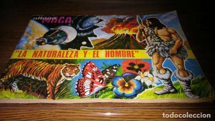 LA NATURALEZA Y EL HOMBRE (MAGA, 1967) - ALBUM COMPLETO (VER DESCRIPCION Y FOTOS) (Coleccionismo - Cromos y Álbumes - Álbumes Completos)
