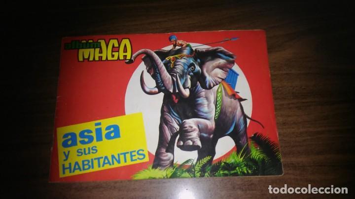 ASIA Y SUS HABITANTES (MAGA, 1972). ALBUM COMPLETO CON 252 CROMOS (Coleccionismo - Cromos y Álbumes - Álbumes Completos)