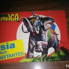 Coleccionismo Álbum: ASIA Y SUS HABITANTES (MAGA, 1972). ALBUM COMPLETO CON 252 CROMOS. Lote 215002782