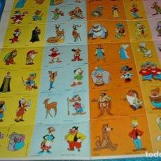 Coleccionismo Álbum: PLIEGO DE 90 PEGATINAS PERSONAJES DISNEY COMPLETO ORIGINAL Y PERFECTO -LEER DESCRIPCION Y VER FOTOS. Lote 215020840