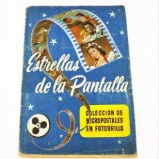 Coleccionismo Álbum: ESTRELLAS DE LA PANTALLA ALBUM COMPLETO. Lote 215371267