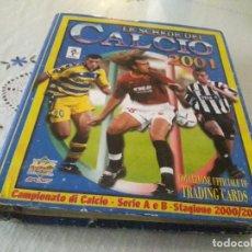Coleccionismo Álbum: COLECCIÓN COMPLETA CALCIO 2001 CON 3 CROMOS RAROS DOBLES. Lote 215400511