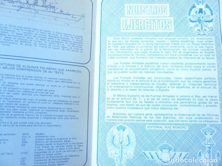 Coleccionismo Álbum: ÁLBUM NUESTROS EJÉRCITOS. COMPLETO. 323 CROMOS. EDITORIAL RUIZ ROMERO - Foto 4 - 215922907