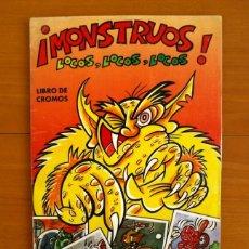 Coleccionismo Álbum: ÁLBUM MONSTRUOS LOCOS LOCOS... - CROMOS ROS 1980 - COMPLETO. Lote 216001532