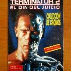 Coleccionismo Álbum: ÁLBUM COLECCIÓN DE CROMOS TERMINATOR 2, EL DÍA DEL JUICIO -EDICIONES CUSCÓ 1991 -COMPLETO CON PÓSTER. Lote 216011697