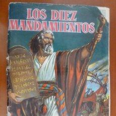 Coleccionismo Álbum: LOS DIEZ MANDAMIENTOS ALBUM DE CROMOS COMPLETO BRUGUERA. Lote 216454200