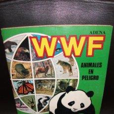 Coleccionismo Álbum: ALBUM DE CROMOS WWF ANIMALES EN PELIGRO ADENA PANINI COMPLETO CON POSTER 1988. Lote 216591500
