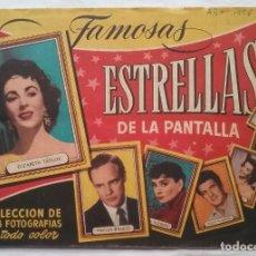 Coleccionismo Álbum: ÁLBUM DE CROMOS FAMOSAS ESTRELLAS DE LA PANTALLA BRUGUERA 1956. Lote 217092220