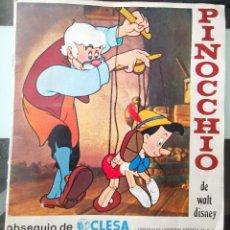 Coleccionismo Álbum: ALBUM CROMOS YOGUR CLESA PINOCCHIO DE WALT DISNEY POSTER COMPLETO PINOCHO MBE. Lote 217128093