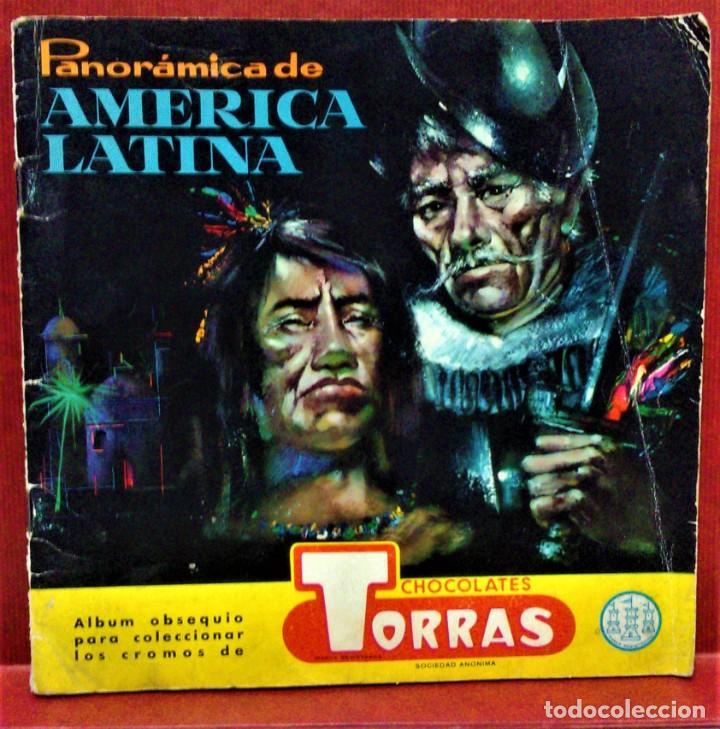 ÁLBUM DE CROMOS COMPLETO PANORÁMICA DE AMÉRICA LATINA,DE CHOCOLATES TORRAS.AÑO 1963 (Coleccionismo - Cromos y Álbumes - Álbumes Completos)