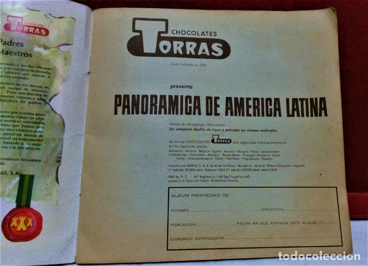 Coleccionismo Álbum: ÁLBUM DE CROMOS COMPLETO PANORÁMICA DE AMÉRICA LATINA,DE CHOCOLATES TORRAS.AÑO 1963 - Foto 2 - 217199553