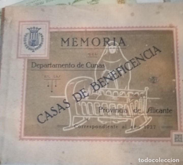 Coleccionismo Álbum: Libreto de memorias casas de la beneficencia 1927 - Foto 2 - 179402182